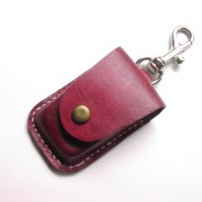 Hand sewn Leather Square Credit Card Reader Case